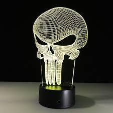 halloween illusion amazon com superniudb 3d skull night light 7 color change led