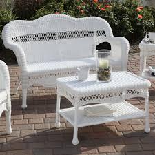 White Resin Wicker Outdoor Patio Furniture Set - patio elegant white patio chairs designs white outdoor furniture