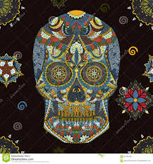 human skull in mexican danger symbol human skull