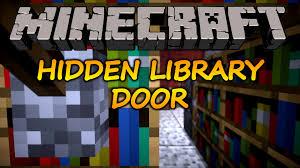 minecraft how to make a hidden bookshelf door 1 11 2 youtube
