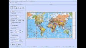 World Map Actual Size how to print a map on multiple pages or tile printing youtube
