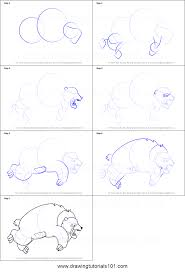 how to draw grizzly bear from happy tree friends printable step by