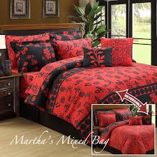 Asian Bedding Set Asian Cherry Blossom Black Size
