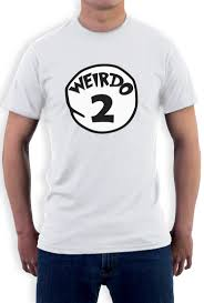 Halloween Costume Shirts Weirdo 2 Costume T Shirt Halloween Party Weirdo 1 2 Thing Matching
