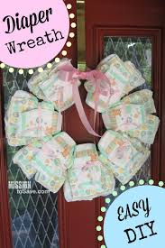 welcome home baby shower diy wreath to welcome baby home diy diapers