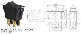 dpst 4pin on off dot illuminated rocker switch 16a 125v 16a 250v