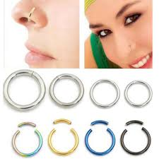 aliexpress nose rings images 2piece 18g 16g nostril nose ring unisex lip ear nose cartilage jpg
