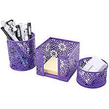 Purple Desk Organizers Desk Organizer Bellestyle 3 In 1 Set Desktop Pencil