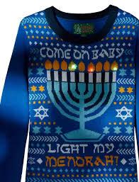 light up hanukkah sweater ugly christmas sweater women s light my menorah at amazon women s