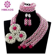 african beads necklace images Wholesale latest design african beads jewelry set nigerian wedding jpg
