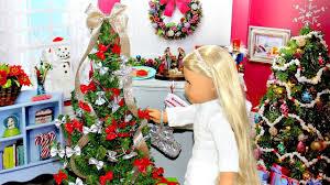 diy american doll christmas tree youtube