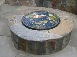 Firepit Cover Firepit Covers Glass Mosaic Pit Cover Outdoors Pinterest