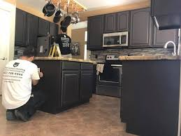what paint color looks with espresso cabinets a great elite custom painting cabinet refinishing inc