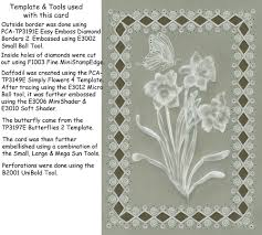 sample embossed u0026 easyedge cards created with pca easy templates