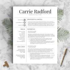 Professional Font For Resume Professional Resume Template The Aubrey