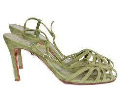 revival boutique green suede sandals sale