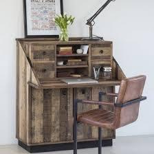 image bureau buy recycled wood plank bureau reclaimed desks living furniture