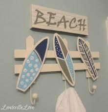 beach themed bathroom shelves decorating clear
