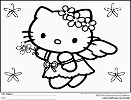 Free Hello Kitty Valentine Coloring Pages 465958 Hello Tree Coloring Page