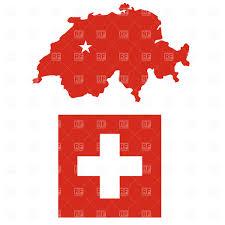 White Cross On Red Flag Switzerland Flag White Cross Over Red Royalty Free Vector Clip