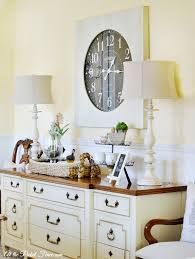 Buffet Table For Dining Room Oversized Wall Clock In The Dining Room Buffet Clocks And Cozy