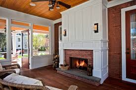 Custom Size Fireplace Screens by Custom Fireplace Screens Sunroom Traditional With Dark Wood Deck