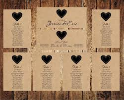 wedding seat chart template wedding seating chart editable text rustic kraft wedding seating