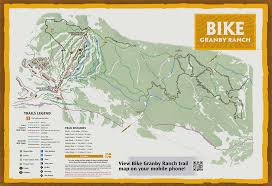 Colorado National Forest Map by Colorado Biking Mountain Biking Trails Granby Ranch