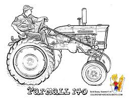 free coloring tractor of farmall 140 gritty tractor coloring
