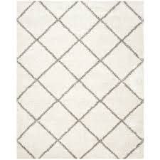 9 X 6 Area Rugs Shop Safavieh Hudson Beckham Shag Ivory Gray Rectangular Indoor