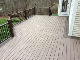 kick back and relax with trex select decking in saddle and