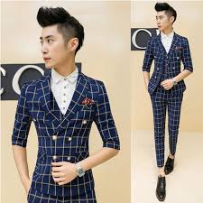 summer suit wedding 2017 wholesale mens summer suit wedding prom sleeve plaid