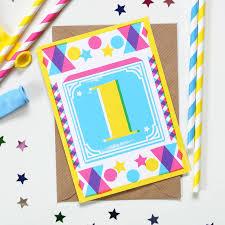 kids u0027 age number block print birthday cards by ruka ruka