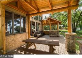 Covered Patio Pictures Rustic Porch With Covered Patio U0026 Brick Exterior In Forest Lake
