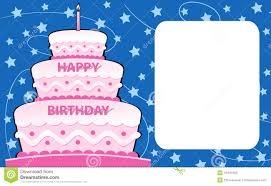 Birthday Card Happy Birthday Card Stock Vector Image Of Announcement 16491983