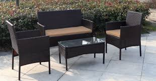 Patio Furniture Milwaukee Wi by Jj International Madison 4 Piece Wicker Seating Group With Cushion