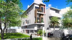 sketchup 4 story narrow house design 4 4x20m sam architect