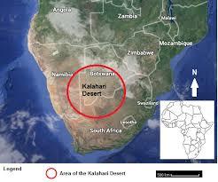 africa map kalahari desert deserts the san of the kalahari s c
