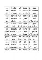 Exercises Count And Non Count Nouns Count Noncount Nouns Articles And Quantifiers