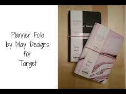 design planner planner folio by may designs for target youtube