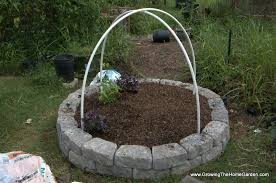 Pvc Raised Garden Bed - building a fall garden bed from stone retaining wall blocks