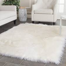 Large Modern Rug by Faux Fur Area Rug 33 Fascinating Ideas On Modern Rugs Floor White