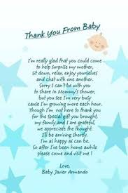 Baby Shower Favor Messages - personalized noted from baby for a baby shower i attached a note