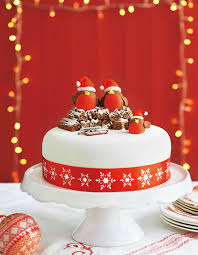 Decoration For Christmas Cake by Top 21 Christmas Cakes Food Heaven