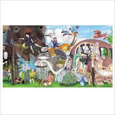 Giant Totoro Bed Ghibli Character Totoro Block Giant Wall Art Poster