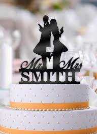 mr and mrs wedding cake toppers personalized mr and mrs smith with name wedding cake topper