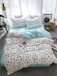 triangle bedding 2 2m 4pcs triangle print bedding setfor women romwe