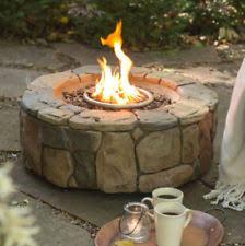 bond fire pit gas outdoors backyard patio deck stone fireplace