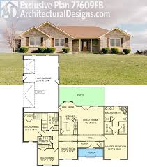 Open Living Space Floor Plans by Architectural Designs Exclusive House Plan 77609fb Gives You 3