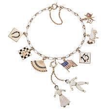 bracelet charm gold jewelry images Art deco cartier enameled gold charm bracelet vintage charm jpg